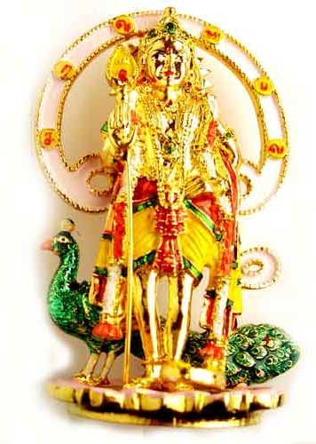 statuette murugan en or
