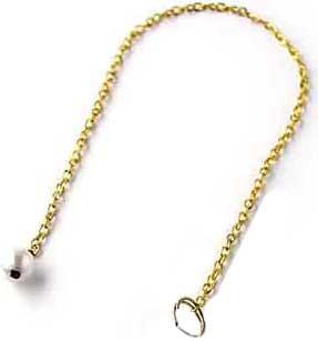 chaine pour pendule dorée