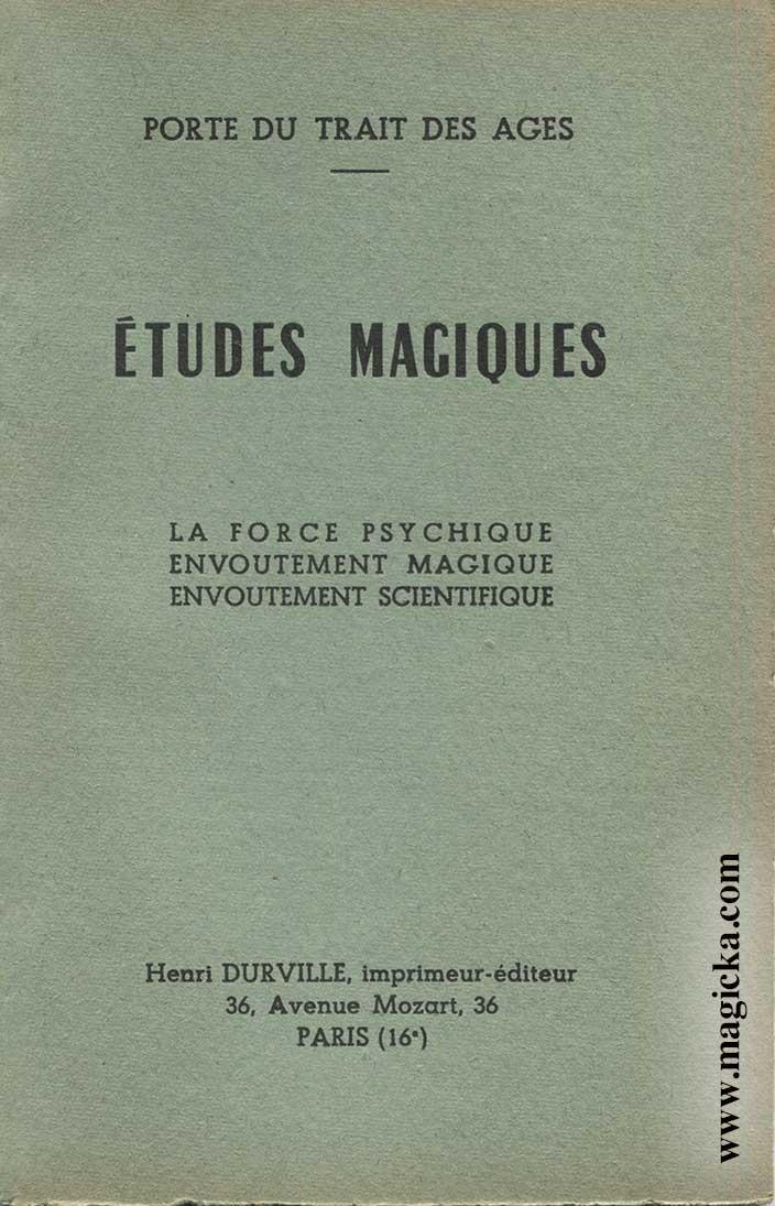livre Études Magiques