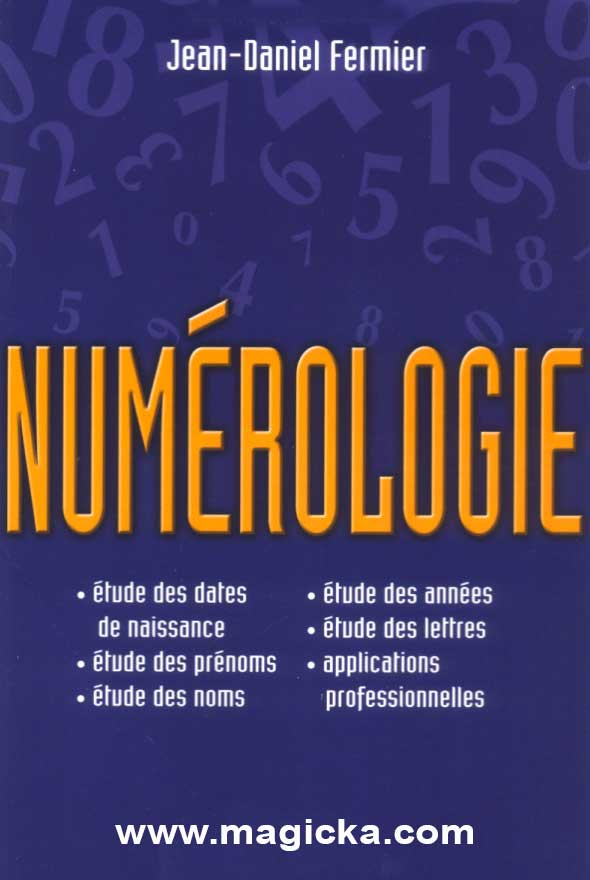 livre Numérologie, Jean Daniel Fermier