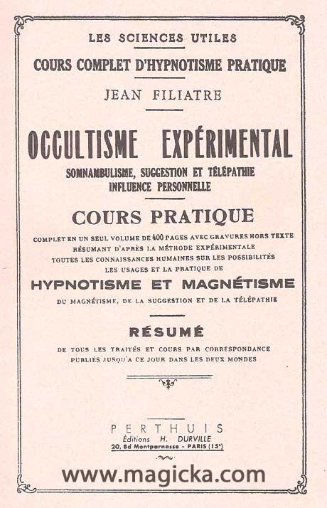 Occultisme Expérimental