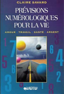 livre Prévisions Numérologiques pour la Vie